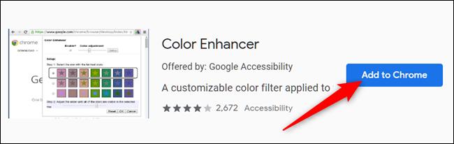 Cliquez sur Ajouter à Chrome sur l'extension que vous souhaitez ajouter