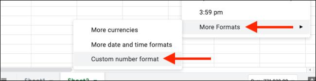 Sélectionnez des formats de nombres personnalisés