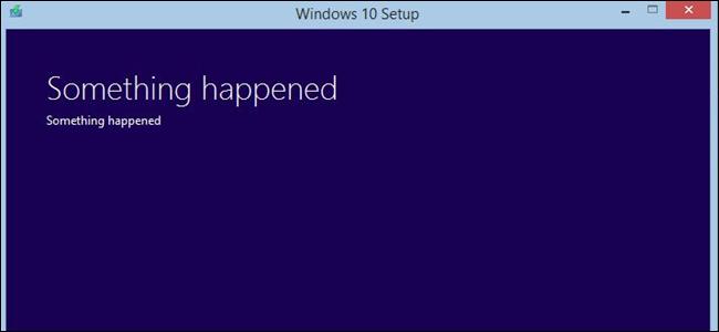 Message Quelque chose s'est produit dans Windows 10