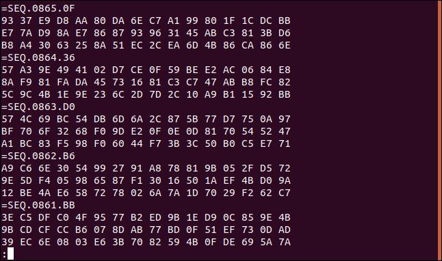 fichier journal inversé avec des enregistrements de données correctement formés
