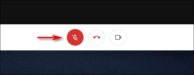 Cliquez sur le bouton du microphone pour réactiver le son dans Google Meet