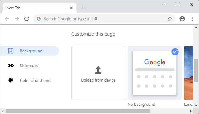 Nouvelles options de personnalisation de Chrome 77.