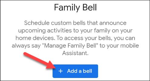 ajouter une annonce de cloche familiale