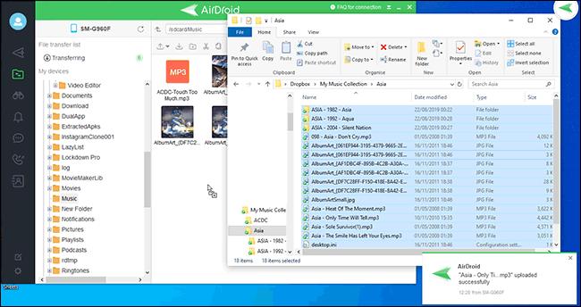 Transfert de fichiers entre PC et Airdroid