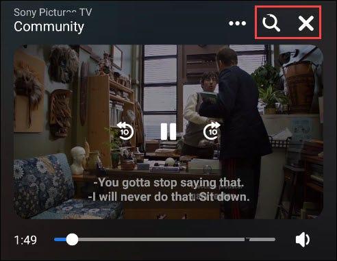 options de contrôle vidéo