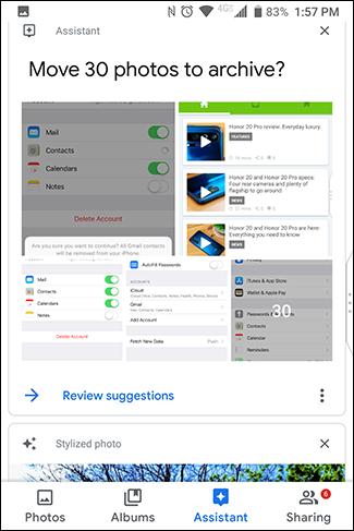 L'Assistant Google peut offrir des options utiles.