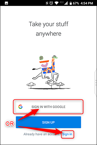 Connectez-vous avec votre compte Google ou une autre adresse e-mail.