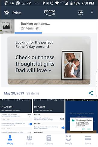 Amazon est également livré avec des publicités pour vous vendre des choses.