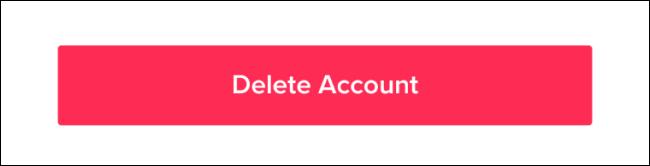 Supprimer le compte TikTok