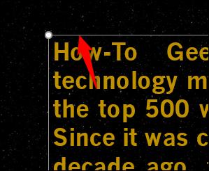 Sélectionnez la zone de texte