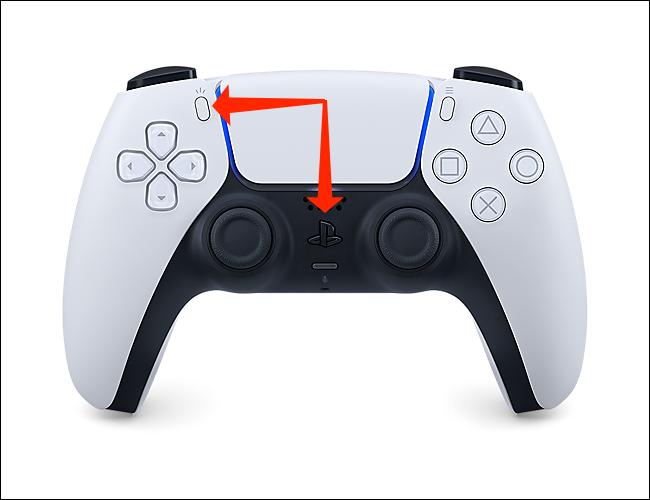 Maintenez enfoncé le bouton PlayStation et le bouton Créer pour mettre la manette PS5 en mode d'appairage Bluetooth