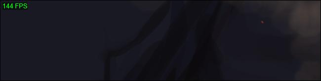 Le compteur FPS vert à contraste élevé de Steam dans le coin supérieur gauche d'un jeu.