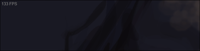 Le compteur FPS gris standard de Steam dans le coin supérieur gauche d'un jeu.