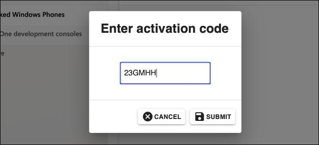 Entrez le code dans le centre des partenaires Microsoft