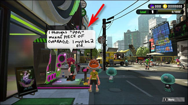 Exemple de publication Nintendo Switch Splatoon 2