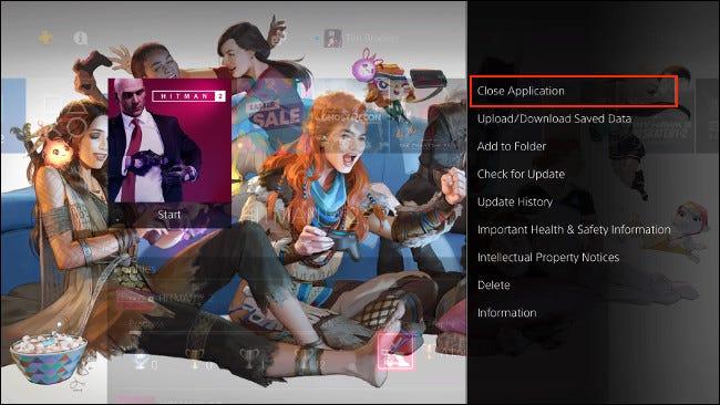 Fermer l'application sur PS4