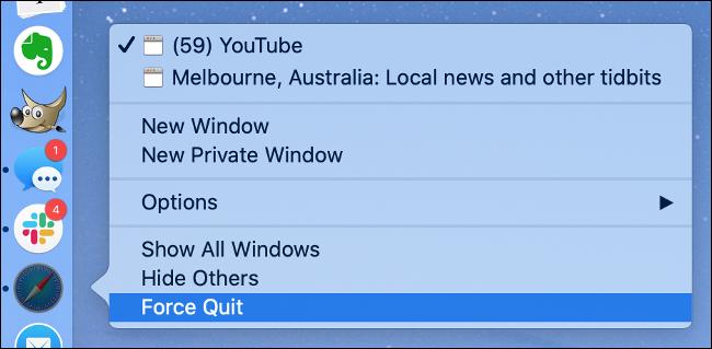 Forcer la fermeture d'une application sous macOS