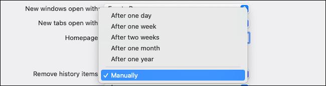 Supprimer automatiquement l'historique de navigation sur Safari macOS