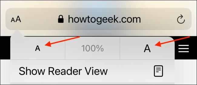 Augmenter ou diminuer la taille du texte dans Safari
