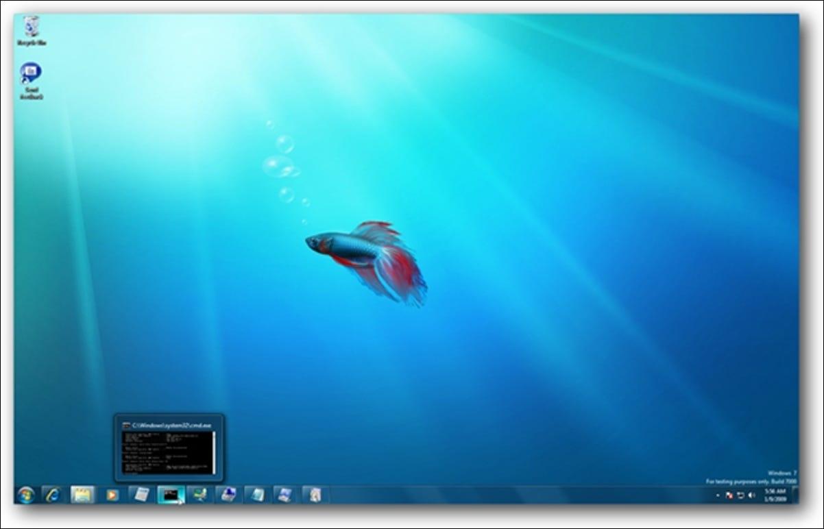 Bureau Windows 7