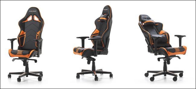 Trois chaises de jeu DXRacer Racing Series PRO.