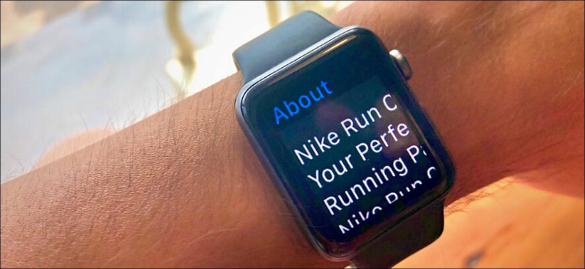 Apple Watch affichée en mode zoom