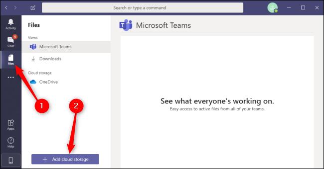 Fichiers Teams Ajouter un stockage dans le cloud