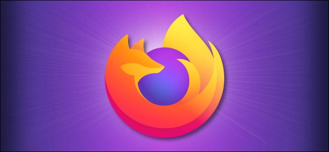 Logo Firefox sur fond violet
