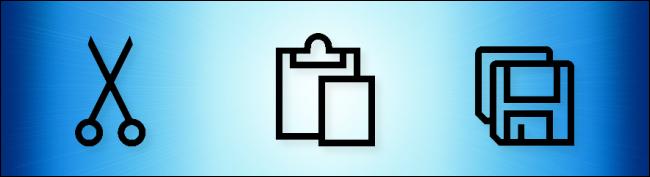 Icônes Microsoft Cut, Paste et Copy