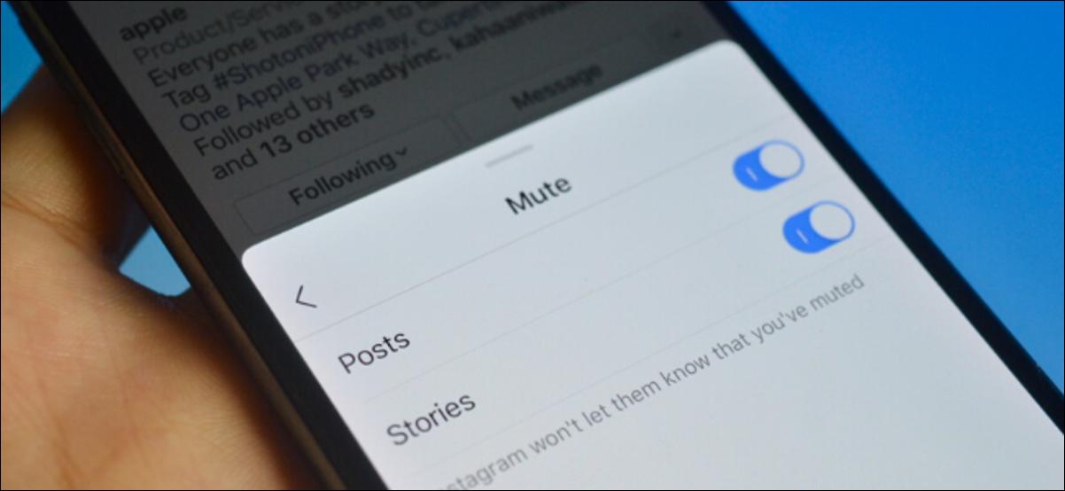 Un utilisateur d'Instagram coupe les publications et les histoires de quelqu'un