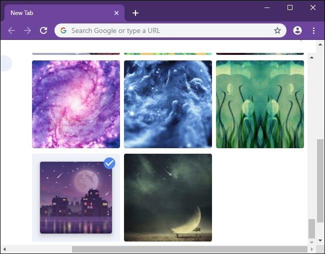 Choisir une image d'arrière-plan pour la page Nouvel onglet de Chrome.