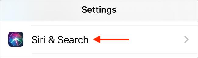 Appuyez sur Siri et recherchez dans les paramètres