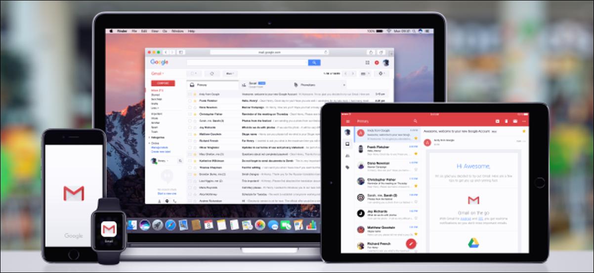 Applications Gmail sur Mac, iPhone, iPad et Apple Watch.