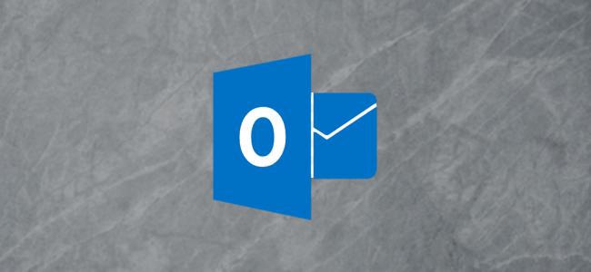 Logo Microsoft Outlook sur fond gris