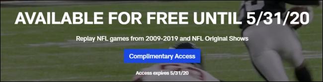 La bannière NFL Game Pass Free.