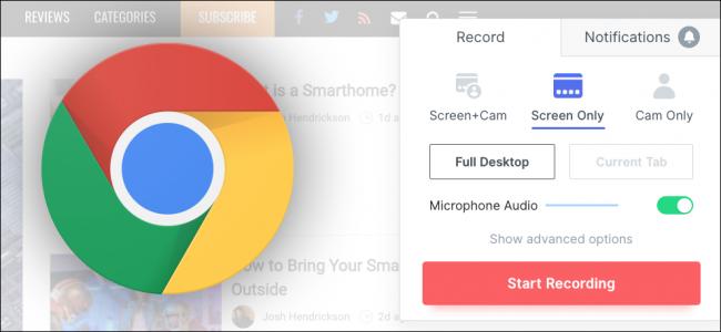 Enregistrement Chrome
