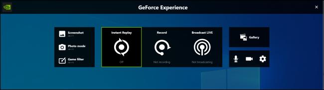 Superposition GeForce Experience sur Windows 10