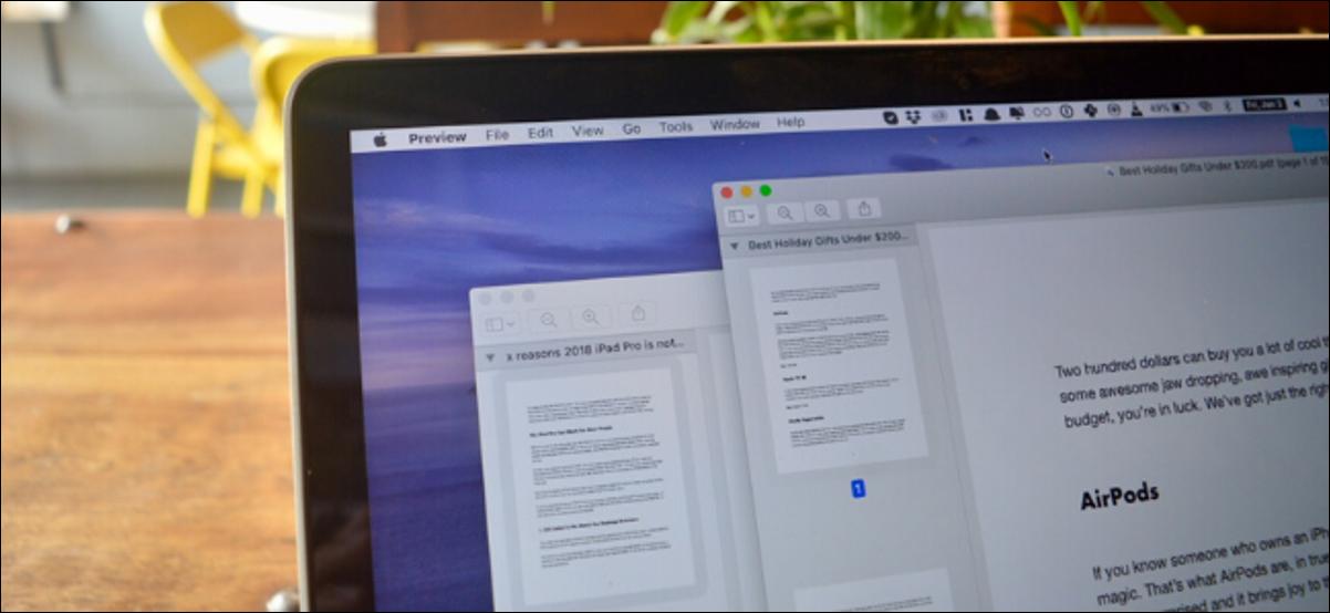 Deux documents PDF s'ouvrent sur un Mac