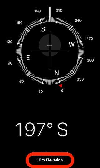 Ouvrez l'application Compass