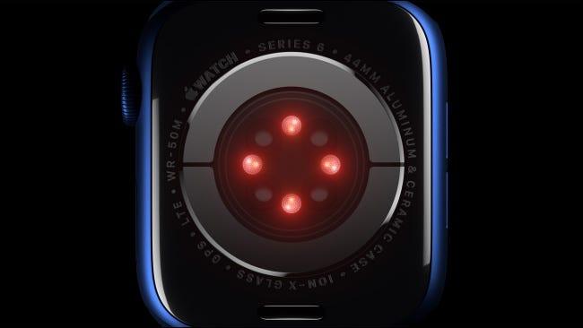 Capteur d'oxygène dans le sang sur l'Apple Watch Series 6