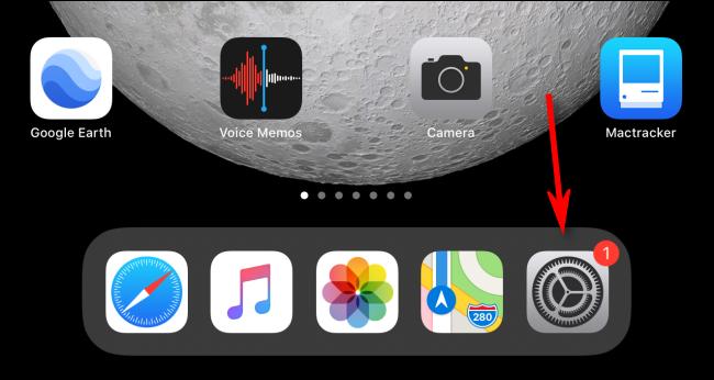 Appuyez sur l'icône Paramètres.