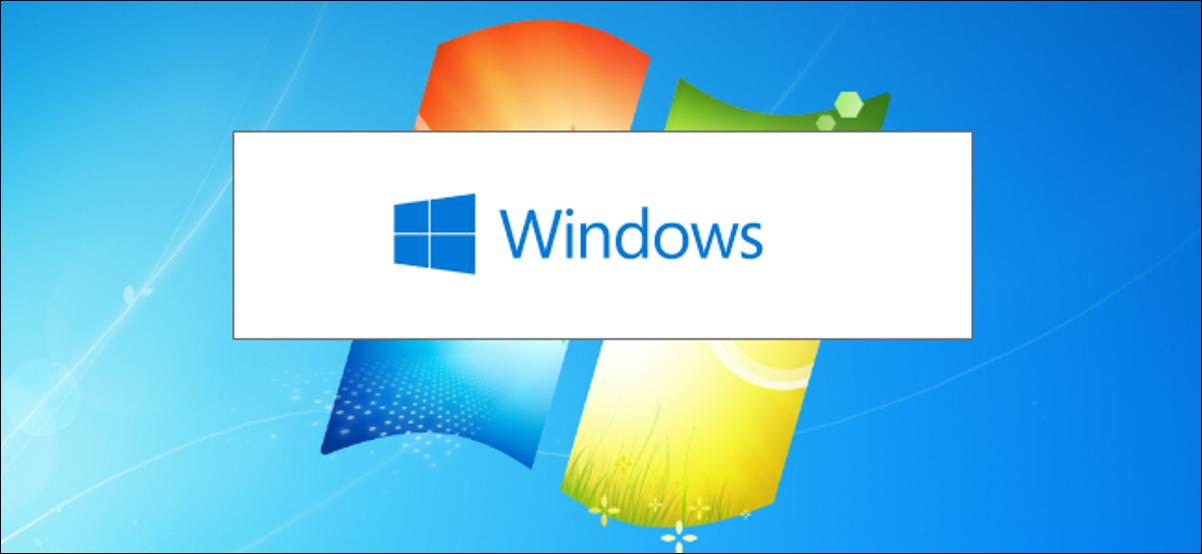 L'écran de démarrage du programme d'installation de Windows 10 sur un arrière-plan du bureau de Windows 7.