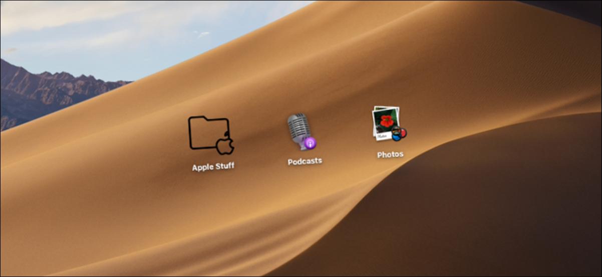 Utilisateur Mac modifiant les icônes des dossiers de fichiers et des applications sur le bureau