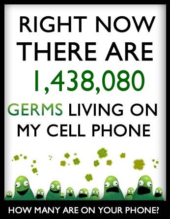 Combien de germes vivent sur votre téléphone portable?