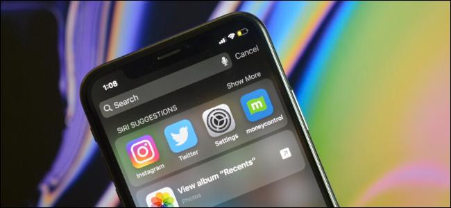 Affichage de la recherche Spotlight sur iPhone