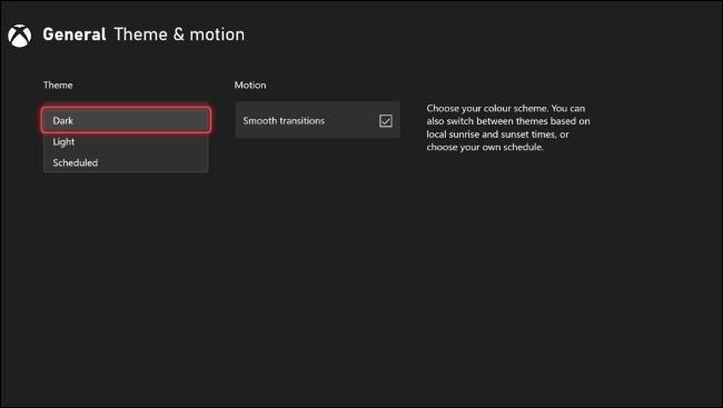 Définir le thème Xbox