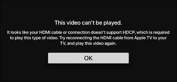 Avertissement: cette vidéo ne peut pas être lue