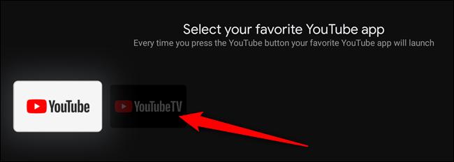 Sélectionnez l'application YouTube à laquelle vous souhaitez associer le bouton