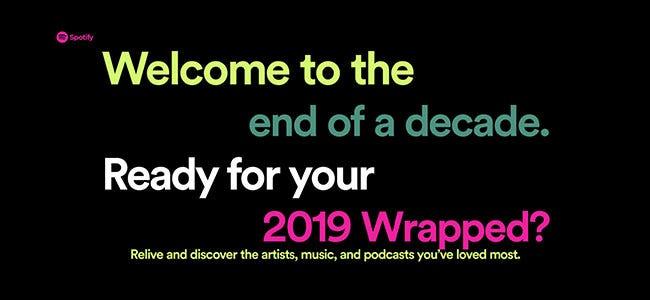Site Web Spotify Wrapped 2019
