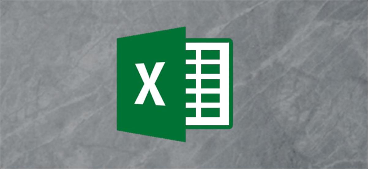 Logo Excel sur fond gris